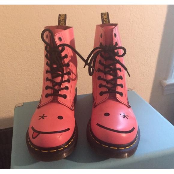 11bbeb6d073e87 Dr. Martens Shoes - RARE Dr Martens Hinckley Acid Pink Smiley Boot
